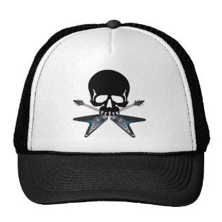 Guitars with skull trucker hats