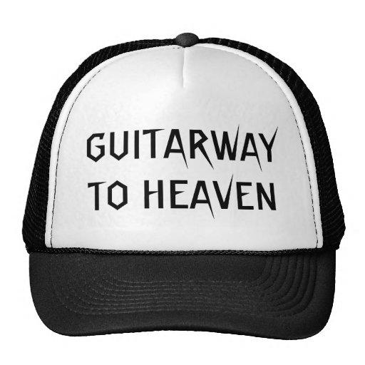 Guitarway To Heaven Cool Rock Slogan Hat