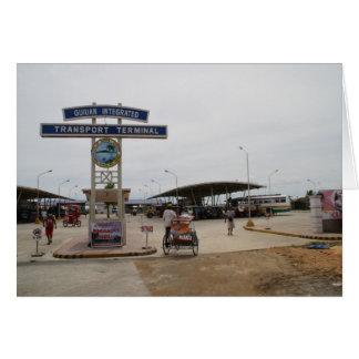 Guiuan bus terminal greeting card
