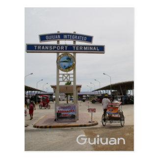 Guiuan bus terminal postcard