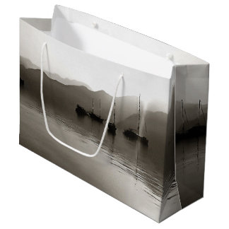 Gulets In Greyscale Large Gift Bag