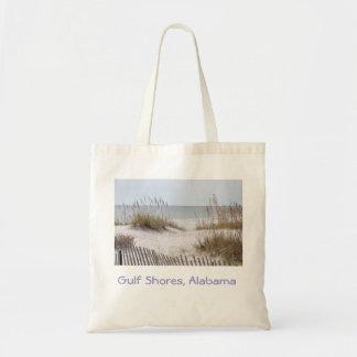Gulf coast beaches Alabama travel tote Budget Tote Bag