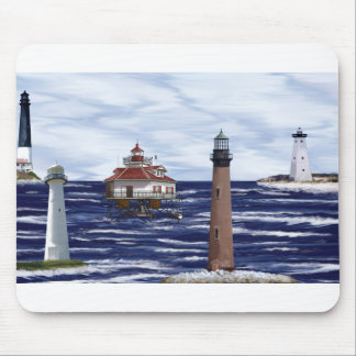 Gulf Coast lighthouses Mouse Mat