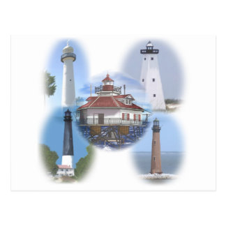 Gulf Coast lighthouses Postcard