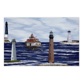 Gulf Coast lighthouses Posters