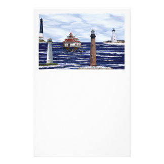 Gulf Coast lighthouses Stationery