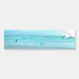 Gulf Coast with Colored Edges Bumper Stickers