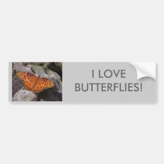 gulf fritillary 2 butterfly, I LOVEBUTTERFLIES! Car Bumper Sticker