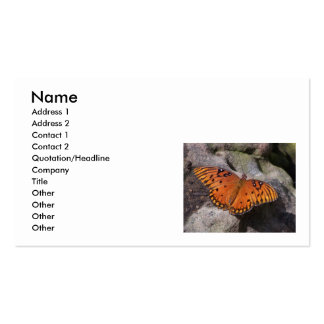 gulf fritillary 2 butterfly, Name, Address 1, A... Pack Of Standard Business Cards