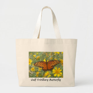 Gulf Fritillary Butterfly Tote Bags