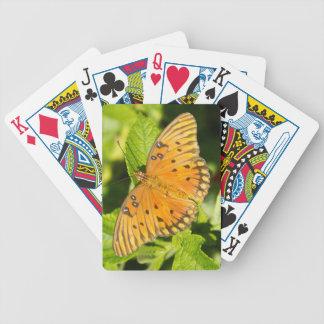 Gulf Fritillary Butterfly Bicycle Poker Deck