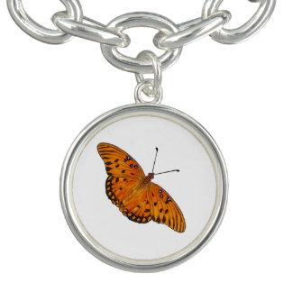 Gulf Fritillary Butterfly bracelet