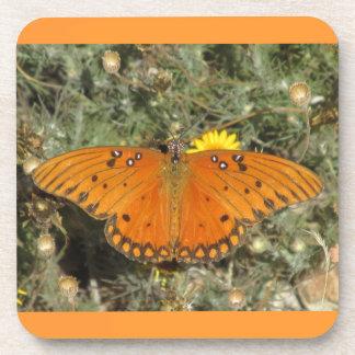 Gulf Fritillary Butterfly Coasters