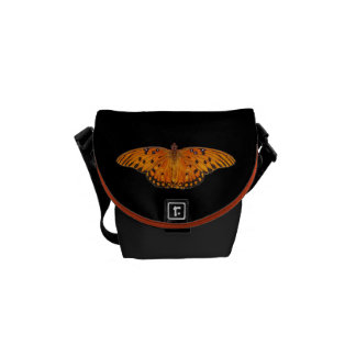 Gulf Fritillary Butterfly Courier Bags