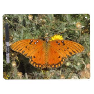Gulf Fritillary Butterfly Dry Erase White Board