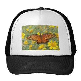 Gulf Fritillary Butterfly Mesh Hat