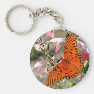 Gulf Fritillary Butterfly Key Chain