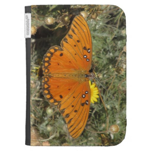 Gulf Fritillary Butterfly Kindle Case