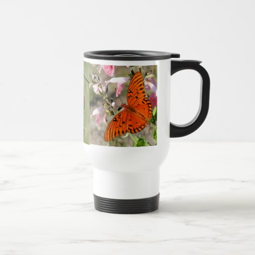 Gulf Fritillary Butterfly Lifecycle Thermal Cup Coffee Mug