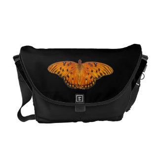 Gulf Fritillary Butterfly Messenger Bags
