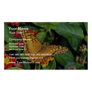Gulf fritillary butterfly, Mexico  flowers Business Card Template