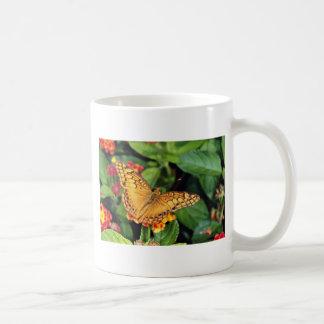 Gulf fritillary butterfly, Mexico  flowers Mug