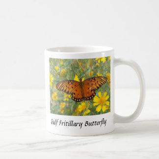 Gulf Fritillary Butterfly Basic White Mug