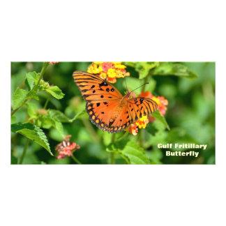 Gulf Fritillary Butterfly Photo Card Template