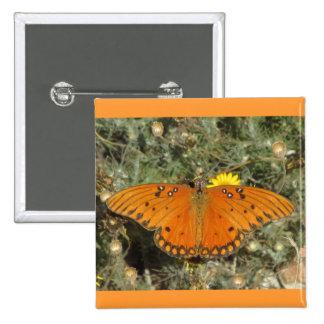 Gulf Fritillary Butterfly Pinback Button