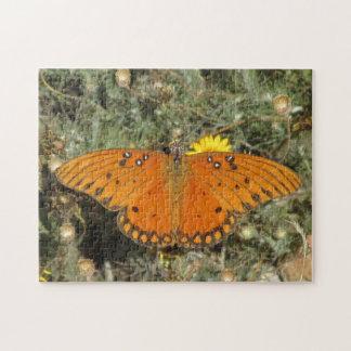 Gulf Fritillary Butterfly Puzzle