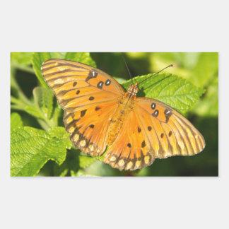 Gulf Fritillary Butterfly Rectangular Sticker
