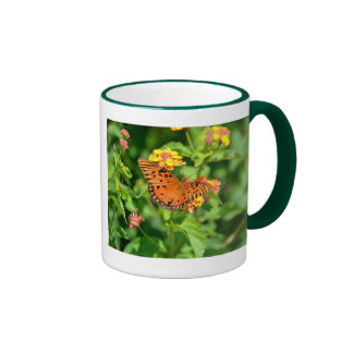 Gulf Fritillary Butterfly Ringer Mug