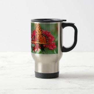 Gulf Fritillary Butterfly Travel Mug