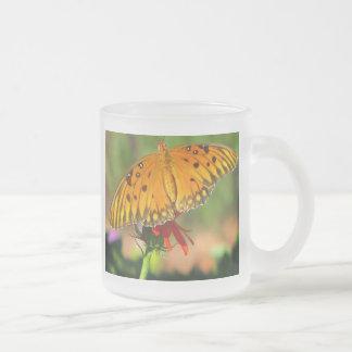 Gulf Fritillary Butterfly Upclose Coffee Mugs