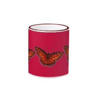 Gulf Fritillary Ringer Coffee Mug