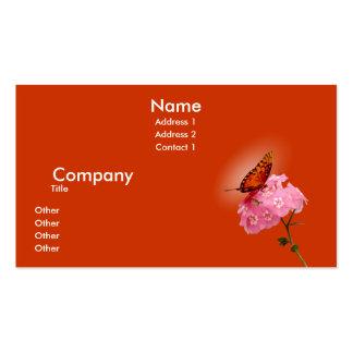 Gulf Fritillary Pack Of Standard Business Cards
