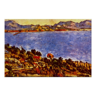 Gulf of Marseille by Paul Cezanne Poster