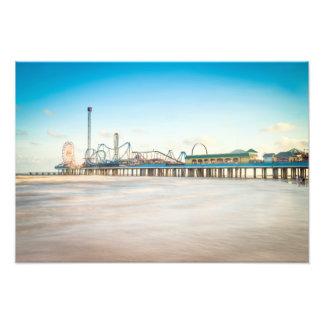 Gulf of Mexico and Galveston Pleasure Pier Photographic Print