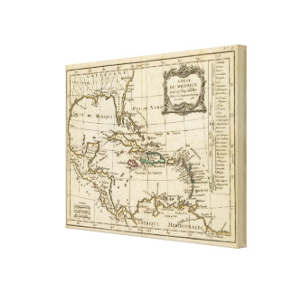 Gulf of Mexico, Caribbean Isles Canvas Print