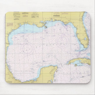 Gulf of Mexico Nautical chart Mouse pad