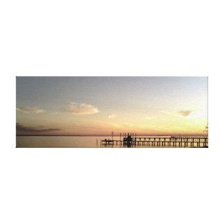 Gulf Pier at Sunset Canvas Print