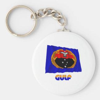Gulf Province Waving Flag Key Chains