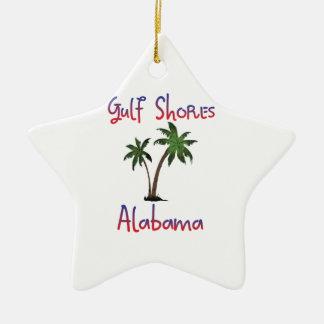 Gulf Shores Alabama Ceramic Star Decoration