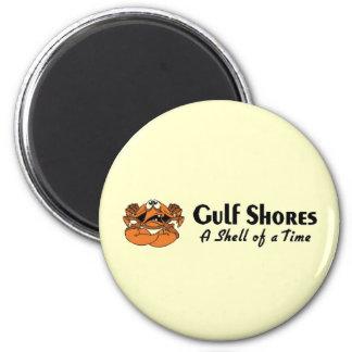 Gulf Shores Crab 6 Cm Round Magnet
