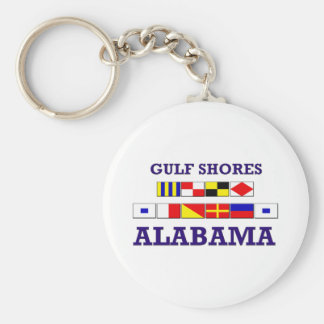 Gulf Shores Flags Keychain