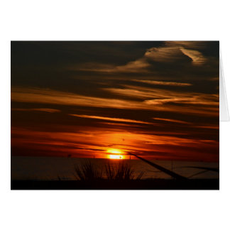 Gulf Shores Sunset Card