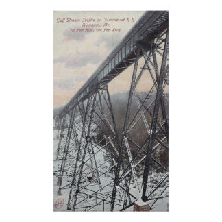 Gulf Stream Trestle on the Somerset Railroad Poster