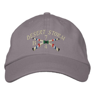 Gulf War Infantry Crossed Rifle Hat Embroidered Baseball Cap
