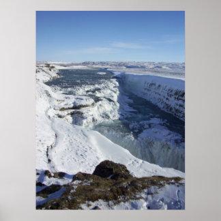 Gulfoss Falls Iceland Poster