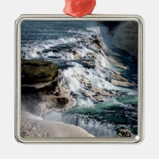 Gull Foss Waterfall Iceland Christmas Ornament